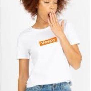 Sleepy, white T-Shirt